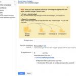 Shared budgets | Google Adwords